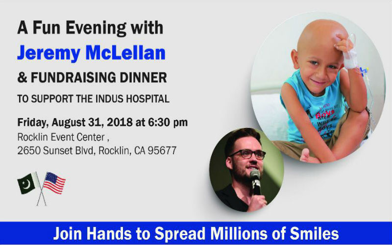 Come for the laughter, stay for the fund-raising for The Indus Hospital in Sacremento, CA