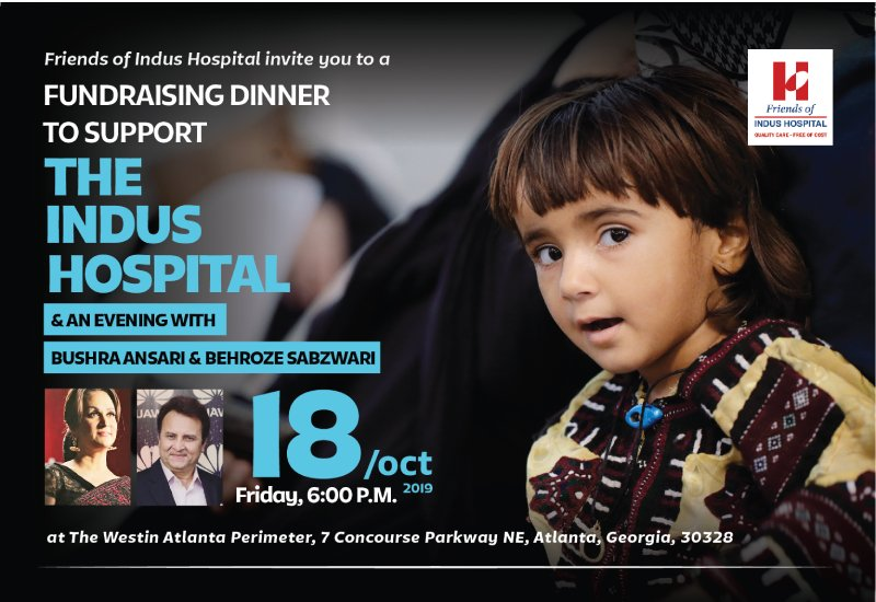 Fundraising dinner in Atlanta to support Indus Health Network with Bushra Ansari and Behroze Sabzwari