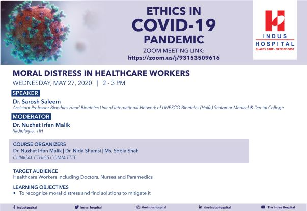 Ethics In COVID-19 Pandemic – Moral Distress In Healthcare Workers